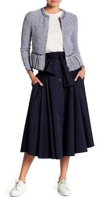 Rebecca Taylor Belted Midi Skirt