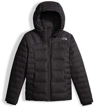 The North Face Girls' Double Down Zip-Up Hooded Jacket, Black, Size XXS-XL