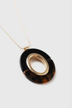 Wallis Brown Tortoise Shell Drop Necklace