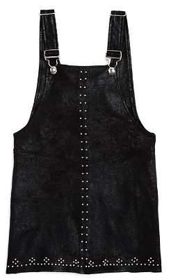 Blank NYC BLANKNYC Girls' Faux-Suede Overall Dress - Big Kid