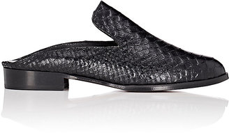 Robert Clergerie Women's Alice Stamped Leather Mules $495 thestylecure.com