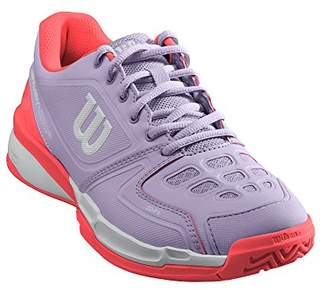 Wilson Rush Comp W, Womens Tennis Shoes, Purple (Pastel Lilac/Fiery Coral/White), 7.5 (41 1/3 EU)