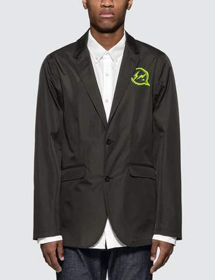 Denim By Vanquish & Fragment Iconic Neon Logo Functional Blazer Jacket
