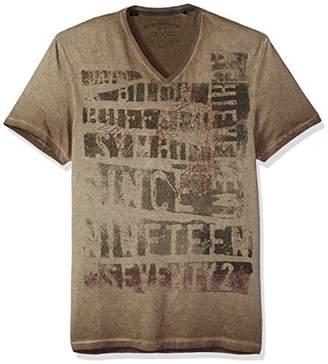 Buffalo David Bitton Men's Tocold Short Sleeve V-Neck Fashion Graphic T-Shirt