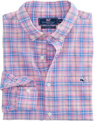Vineyard Vines Stoney Hill Plaid Slim Tucker Shirt