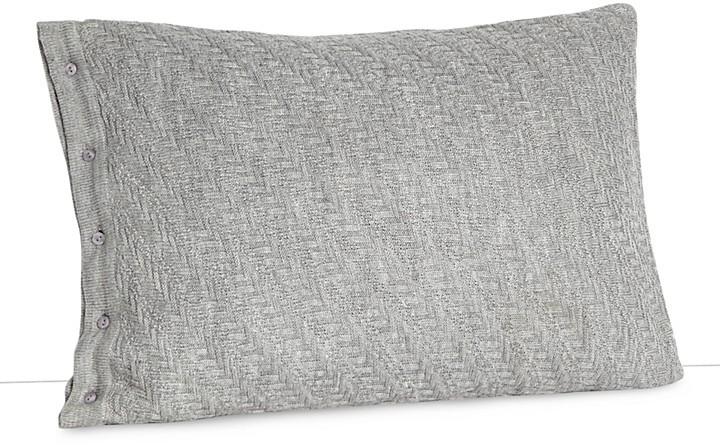 "Vera Wang Charcoal Flower Decorative Pillow, 15"" x 22"""