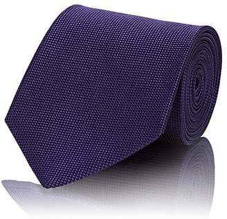 Ermenegildo Zegna Men's Micro-Diamond-Print Silk Jacquard Necktie