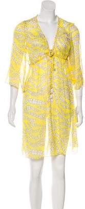 Milly Silk Floral Print Dress