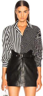 Givenchy Polka Dot & Striped Mixed Print Shirt