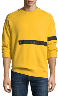 Mostly Heard Rarely Seen Men's Cut-Here Graphic Crewneck Sweatshirt