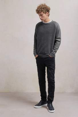French Connection Boiled Sweat Knit Hybrid Crew Neck Jumper