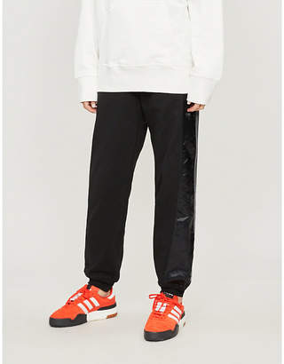 Alexander Wang Adidas X Side-stripe cotton-jersey and satin jogging bottoms