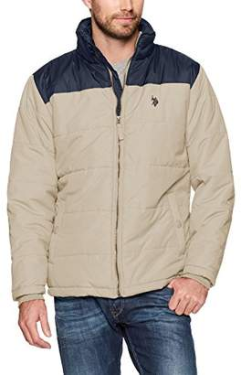 U.S. Polo Assn. Men's Standard Puffer Jacket with Poly Lining
