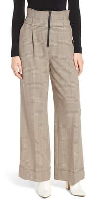 Trouve High Waist Wide Leg Trousers