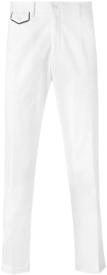 Dolce & Gabbana embroidered crown chinos