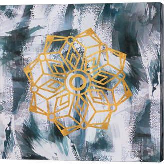 Braun Metaverse Mandala by Lisa Powell Canvas Art