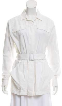 Tomas Maier Belted Button-Up Jacket
