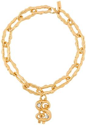 Moschino dollar motif chain necklace