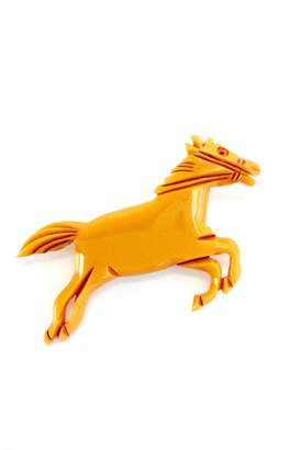 GHome2 Butterscotch Horse Brooch