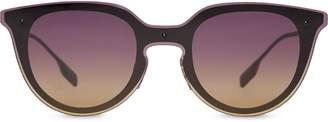 Burberry Eyewear Keyhole Round Frame Shield Sunglasses
