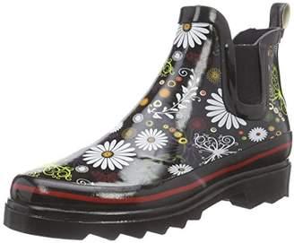 Beck Womens Daisy Cold lined slip-on boots short length Black Schwarz (schwarz 02) Size: 8