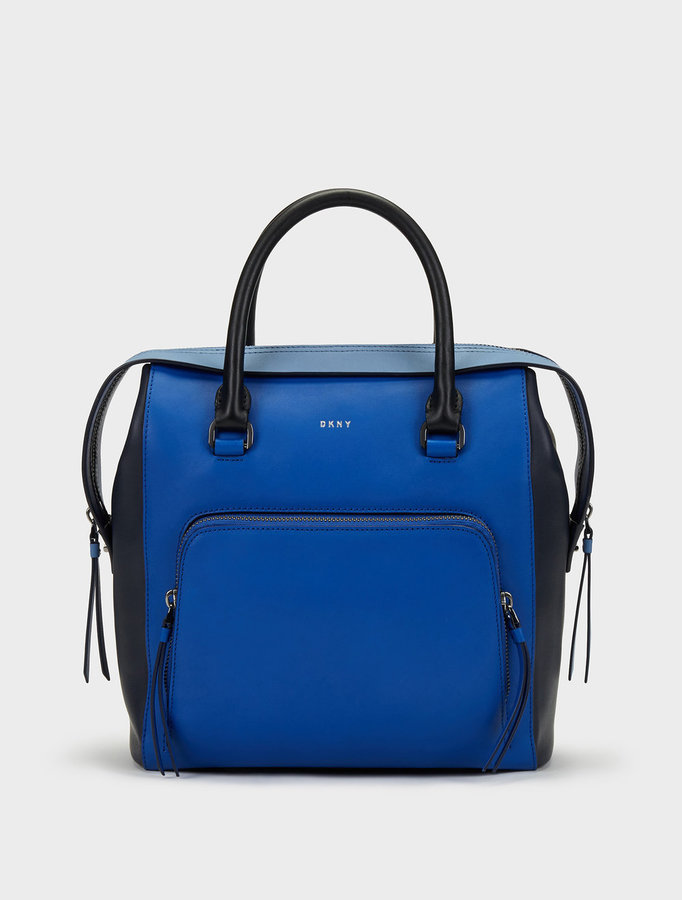DKNY MEDIUM GREENWICH COLORBLOCK NORTH\u002FSOUTH SATCHEL
