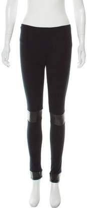 Balenciaga Low-Rise Knit Leggings