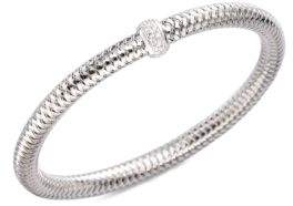 Roberto Coin Primavera Diamond & 18K White Gold Woven Bracelet