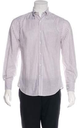 Brunello Cucinelli Striped Button-Up Shirt