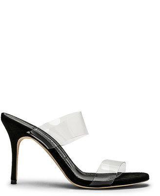 Manolo Blahnik PVC Scolto 90 Sandal