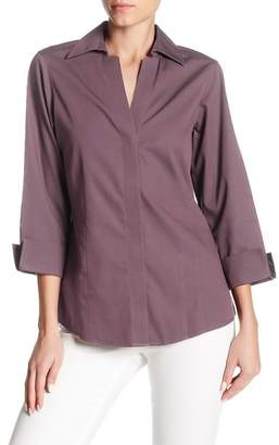 Foxcroft 3/4 Length Sleeve Fitted Blouse