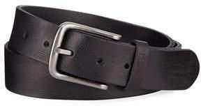 Joe's Jeans Men's Pin Dot Stamped Leather Belt