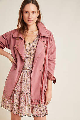 Anthropologie Letty Relaxed Moto Parka