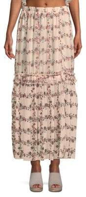 ENGLISH FACTORY Floral Maxi Skirt