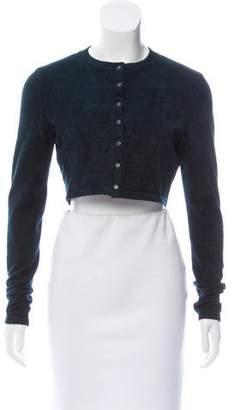 Alaia Textured Crop Cardigan