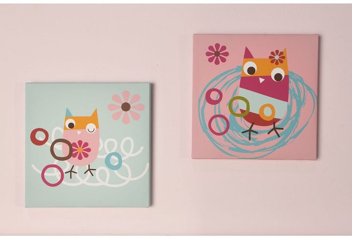 Zutano owls 2-pc. wall art set