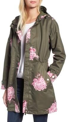 Joules Right as Rain Longline Print Coat