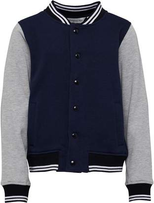 Kangaroo Poo Boys Baseball Fleece Jacket Navy/Grey Marl