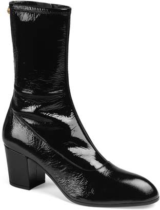 Gucci Printyl Patent Leather Zip Boot
