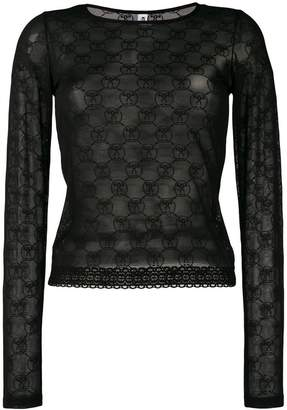 Moschino question mark print top