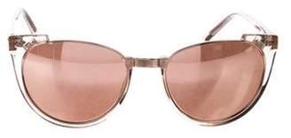 Linda Farrow Mirrored Oversize Sunglasses