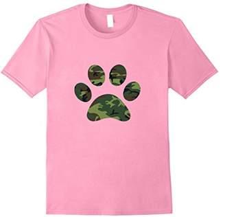 Camo Camouflage Paw Print t-shirt Dog Lover tee