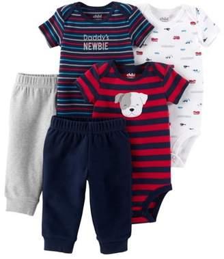Carter's Child of Mine by Short Sleeve Bodysuits & Pants, 5pc Set (Baby Boys)