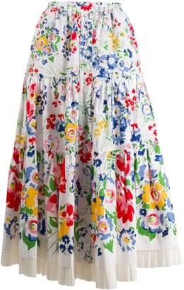 Marc Jacobs floral print midi skirt