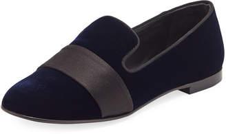 bf65843a055 Giuseppe Zanotti Velvet Flat Slip-On Loafers