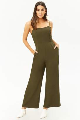 36e47018b5e7 at Forever 21 · Forever 21 Wide-Leg Cami Jumpsuit