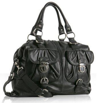 Hype black leather 'Truffaut' satchel