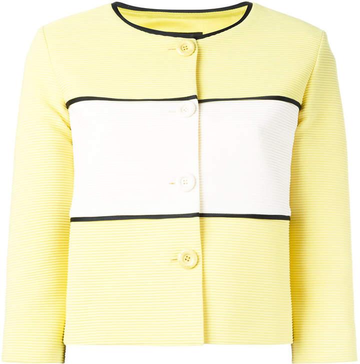 Moschino cropped panel jacket