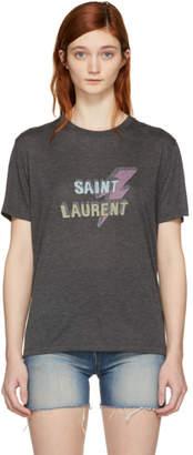 Saint Laurent Black Eclair T-Shirt