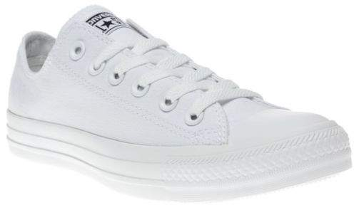 New Boys White All Star Ox Canvas Trainers Lace Up
